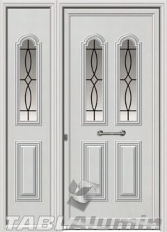 Πόρτα αλουμινίου με πλαϊνό εξωτερική I-3000-M
