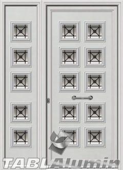 Πόρτα αλουμινίου με πλαϊνό εξωτερική I-3060-M