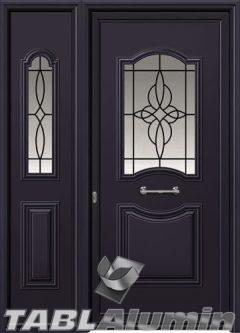 Πόρτα αλουμινίου με πλαϊνό εξωτερική I-3110-M