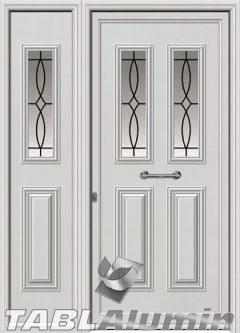 Πόρτα αλουμινίου με πλαϊνό εξωτερική I-3130-M