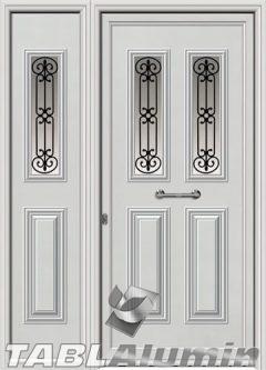 Πόρτα αλουμινίου με πλαϊνό εξωτερική I-3150-M