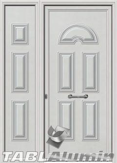 Πόρτα αλουμινίου με πλαϊνό S-100