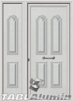 Πόρτα αλουμινίου με πλαϊνό S-110