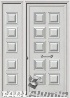 Πόρτα αλουμινίου με πλαϊνό S-130