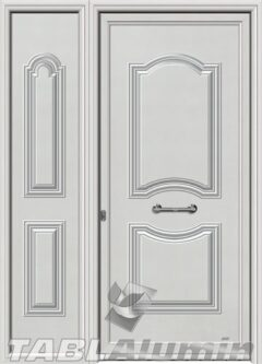 Πόρτα αλουμινίου με πλαϊνό S-170