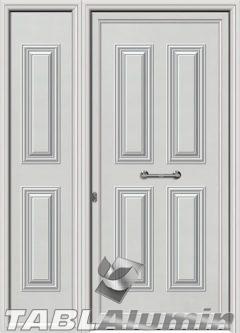 Πόρτα αλουμινίου με πλαϊνό S-200