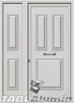 Πόρτα αλουμινίου με πλαϊνό S-210