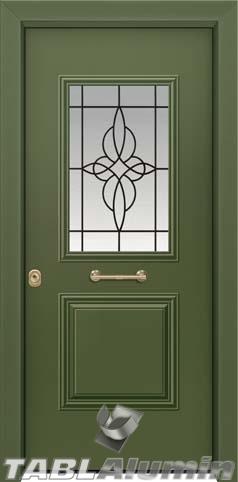 Θωρακισμένη πόρτα με τζάμι Θ-3010