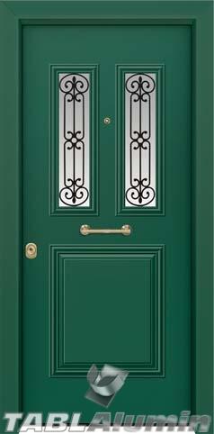 Θωρακισμένη πόρτα με τζάμι Θ-3180