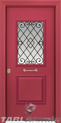Θωρακισμένη πόρτα με τζάμι Θ-3020