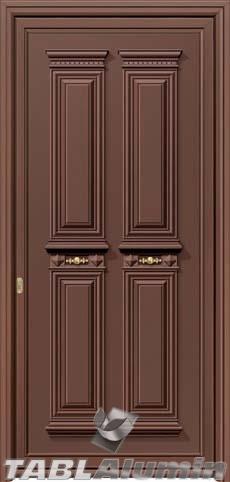 Παραδοσιακή πόρτα αλουμινίου X-8300