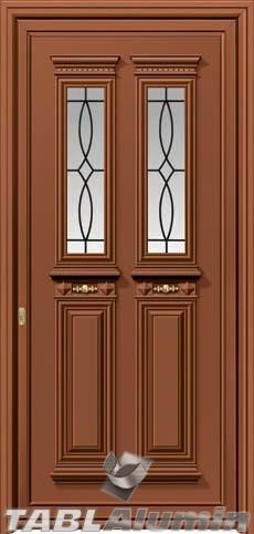 Παραδοσιακή πόρτα αλουμινίου εξωτερική X-8330