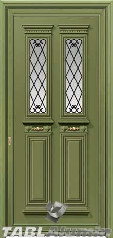 Παραδοσιακή πόρτα αλουμινίου X-8340