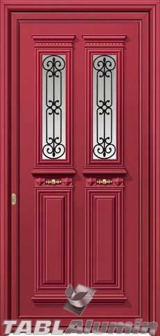 Παραδοσιακή πόρτα αλουμινίου X-8350