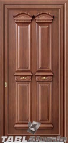 Παραδοσιακή πόρτα αλουμινίου X-8400
