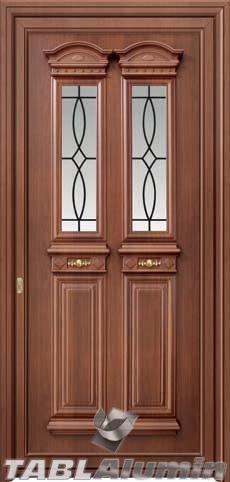 Παραδοσιακή πόρτα αλουμινίου X-8430