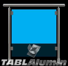 Ανοδιωμένο Κάγκελο Αλουμινίου με Τζάμι Model 1
