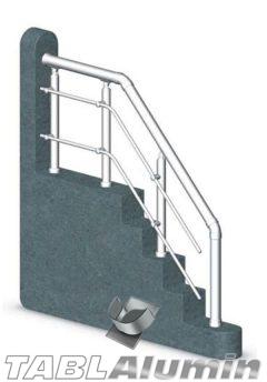 Ανοδιωμένη Σκάλα Αλουμινίου με Οριζόντια Σωληνάκια