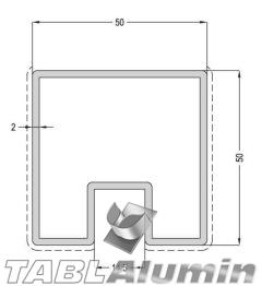 TP-1813 Κολώνα 50x50 (1 έξοδος)