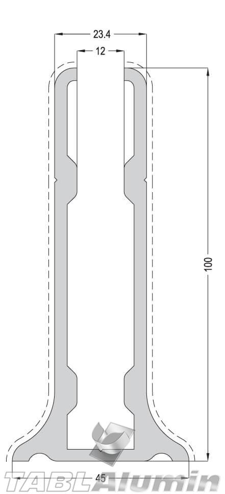 TP-1825 Βάση τζαμιού 100mm