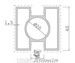 TP-2002 Κολώνα 40x40 (2 έξοδοι)
