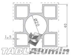 TP-2003 Κολώνα 40x40 (4 έξοδοι)