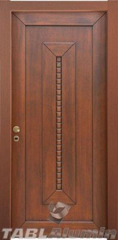 θωρακισμένη πόρτα με χειροποίητη επένδυση ξύλου ΘΠ-503