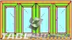 Ανοιγόμενο Τετράφυλλο Τζάμι Ενεργειακά Κουφώματα Αλουμινίου
