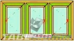 Ανοιγόμενο τρίφυλλο τζάμι ενεργειακά κουφώματα αλουμινίου