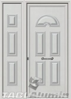 Πόρτα αλουμινίου με πλαϊνό Σ-100