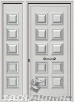 Πόρτα αλουμινίου με πλαϊνό Σ-130