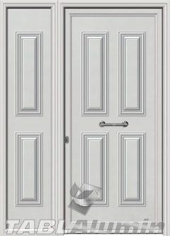 Πόρτα αλουμινίου με πλαϊνό Σ-200