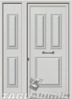 Πόρτα αλουμινίου με πλαϊνό Σ-210