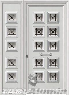 Πόρτα αλουμινίου με πλαϊνό Ι-3060-Μ