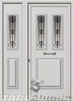 Πόρτα αλουμινίου με πλαϊνό Ι-3180-Μ