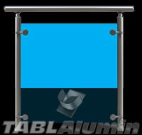 Ανοδιωμένο Κάγκελο Αλουμινίου με Τζάμι MODEL 3