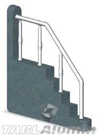 Ανοδιωμένη Σκάλα Αλουμινίου με Διακοσμητική Ένωση MODEL 18