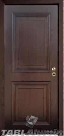 θωρακισμένη πόρτα με χειροποίητη επένδυση ξύλου ΘΠ-521