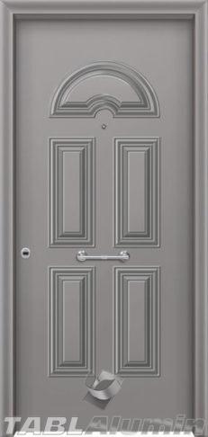 Θωρακισμένη πόρτα με πρεσσαριστή επένδυση αλουμινίου Θ-100
