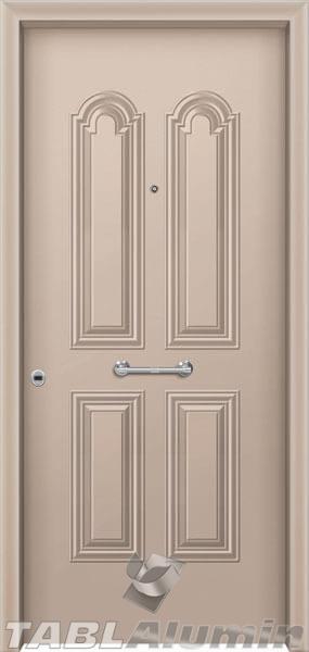 Θωρακισμένη πόρτα με πρεσσαριστή επένδυση αλουμινίου Θ-110