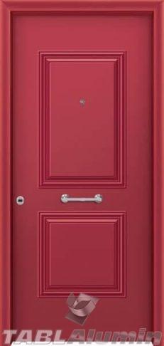 Θωρακισμένη πόρτα με πρεσσαριστή επένδυση αλουμινίου Θ-120