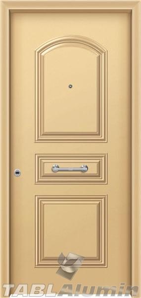 Θωρακισμένη πόρτα με πρεσσαριστή επένδυση αλουμινίου Θ-140