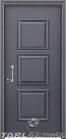 Θωρακισμένη πόρτα με πρεσσαριστή επένδυση αλουμινίου Θ-150