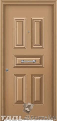 Θωρακισμένη πόρτα με πρεσσαριστή επένδυση αλουμινίου Θ-160