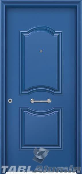Θωρακισμένη πόρτα με πρεσσαριστή επένδυση αλουμινίου Θ-170