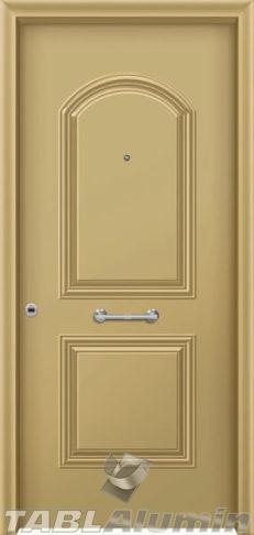Θωρακισμένη πόρτα με πρεσσαριστή επένδυση αλουμινίου Θ-180