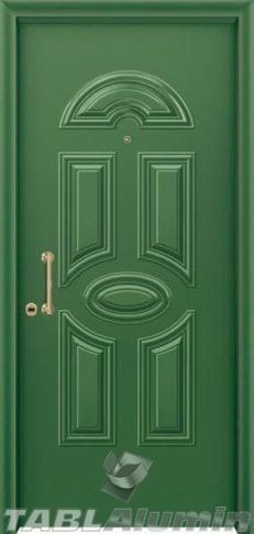 Θωρακισμένη πόρτα με πρεσσαριστή επένδυση αλουμινίου Θ-190