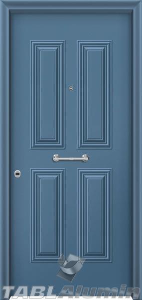 Θωρακισμένη πόρτα με πρεσσαριστή επένδυση αλουμινίου Θ-200
