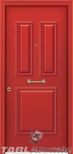 Θωρακισμένη πόρτα με πρεσσαριστή επένδυση αλουμινίου Θ-210