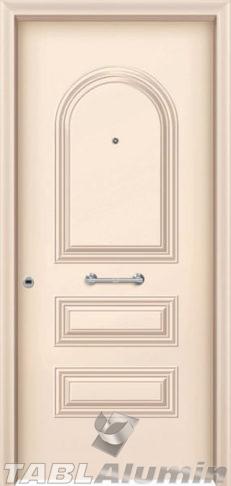 Θωρακισμένη πόρτα με πρεσσαριστή επένδυση αλουμινίου Θ-220